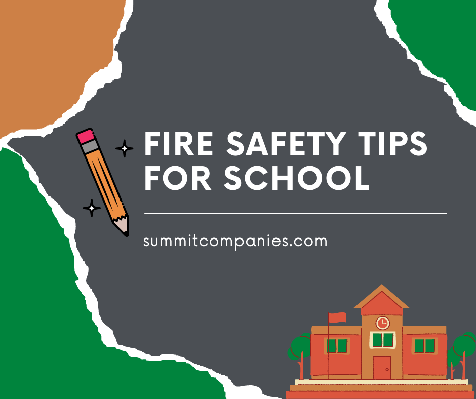 fire safety tips for school year